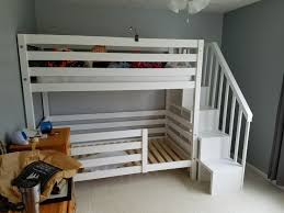 How To Build A Loft Bunk Bed With Stairs by Best 25 Bunk Beds With Stairs Ideas On Pinterest Bunk Beds With