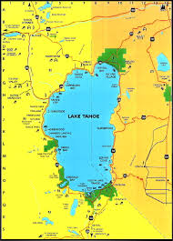Where Is Mexico On The Map by Lake Tahoe Area Maps Detailed Lake Tahoe Area Map By Region