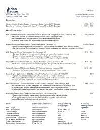web development resume resume for your job application