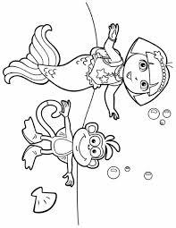 dora mermaid printable coloring pages bltidm