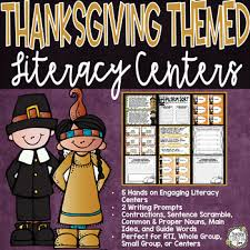 thanksgiving activities thanksgiving centers literacy centers