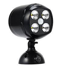 battery powered security light battery powered security lights zoto 600lumen pir motion sensor