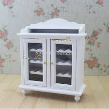 1 12 miniature wine cabinet shelving buffet hutch wooden toys for