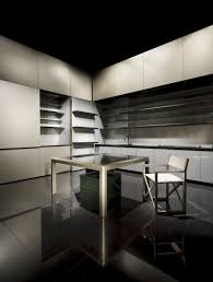 disappearing sleek and polish kitchen design calyx from armani