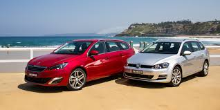 peugeot 608 estate 308 touring v volkswagen golf wagon comparison review