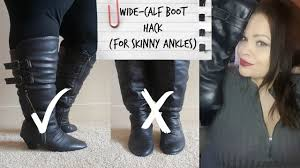 s boots plus size calf plus size style hacks wide calf boot hack for ankles