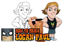 how to draw logan paul cartoons for kids youtube
