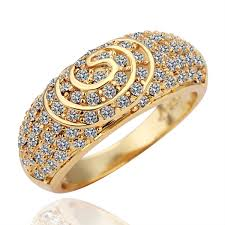 girls golden rings images Size 8 ashbury metal 18k yellow gold plated rhinestone crystal jpg