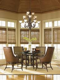 landara coral sea rattan dining table with 60 inch glass top