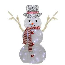 Outdoor Lighted Snowman Decorations by Snowman Lighted Yard Displays Christmas Wikii