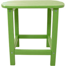 Outdoor Patio End Tables Zuo Brother Wood Outdoor Patio Side Table In Cement And Natural