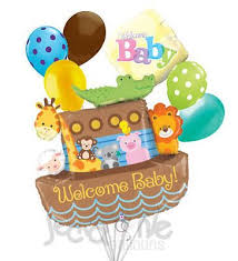 Noah S Ark Decorations Welcome Baby Noah U0027s Ark Balloon Bouquet Babies Latex Balloons