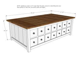 Woodworking Plans For Coffee Table by Ana White Apothecary Coffee Table With Toybox Trundle Diy Projects