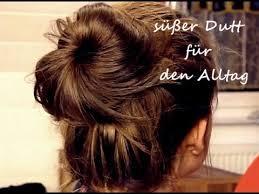 Frisuren Mittellange Haare Dutt by Süßer Dutt Für Den Alltag