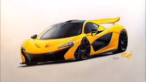 mclaren p1 side view mclaren p1 drawing and rendring youtube