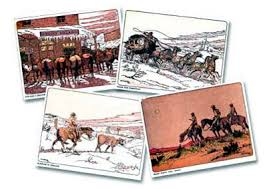 western christmas cards west painting western christmas by andrew