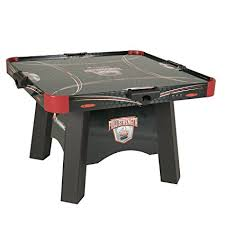 air powered hockey table amazon com atomic full strength 4 player air powered hockey table