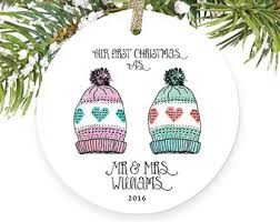 as mr and mrs ornament married