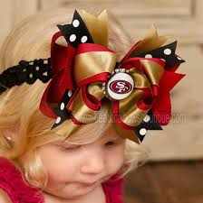 beautiful bows boutique buy fancy san francisco 49ers nfl hair bow clip or baby headband