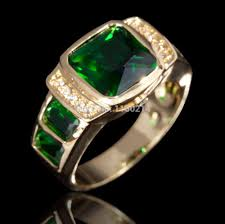 aliexpress buy anniversary 18k white gold filled 4 fashion jewelry green rings cz ip yellow gold filled