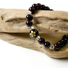 natural stone beaded bracelet images Mysta rakuten global market samurai crest maeda rosewood was jpg