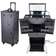 makeup case with lights and mirror yescomusa rakuten aw pro rolling multifunction makeup case w