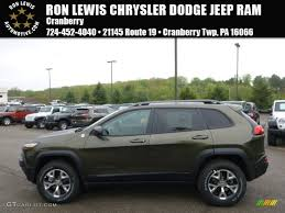 jeep green 2017 2014 eco green pearl jeep cherokee trailhawk 4x4 93605246