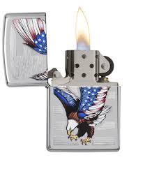 Bald Eagle On Flag Authentic Zippo Lighter E Star Award Zippo Com