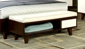 end of bed storage bench plus low upholstered bench plus bedroom