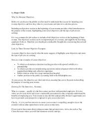 Objective Section On Resume Career Objectives For Resume How To Write A Career Objective On A