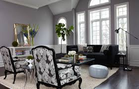 chic living room ideas with light grey walls gray couch with dark