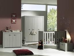 chambre complete bebe lit bébé à barreaux évolutif contemporain chêne gris lit