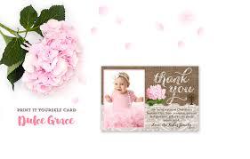 Invitation Card Christening Baptism Thank You Card Printable Baptism Photo Card
