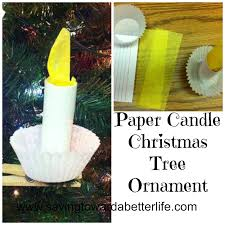 christmas craft paper candle ornament saving toward a better life