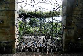ornamental ironwork gate picture of the alnwick garden alnwick
