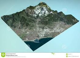 Tuscany Italy Map Carrara Satellite View Map Section Tuscany Italy Stock