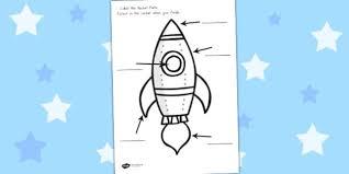rocket labelling worksheet worksheets rockets labels