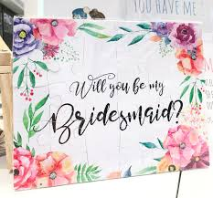 will you be my flower girl gift be my bridesmaid invitation will you be my bridesmaid puzzle