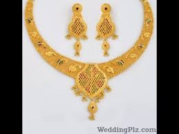 gold set light weight gold necklace set in 20 grams south indian