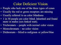 People Who Are Color Blind Color Vision Our Visual System Interprets Differences In The