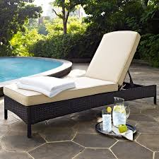 crosley palm harbor outdoor wicker chaise lounge hayneedle