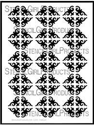 ornamental wallpaper stencil nathalie kalbach stencilgirl products