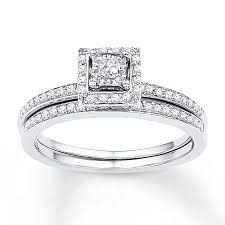 wedding cut rings images Diamond bridal set 1 4 ct tw princess cut 10k white gold jpg