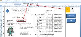 format absensi ujian aplikasi kartu peserta tes ujian format excel deuniv
