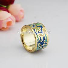 blue rose rings images Promotional blue rose flower design enamel jewelry rings 1pcs pack jpg