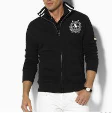 men u0027s classic full zip fleece hoodie in black polo by ralph lauren