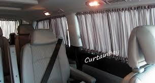 Camper Van Blinds Vw Transporter T5 Rear Curtains Full Set Campervan Blinds Black