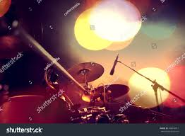 Drum Set Lights Musical Backgrounddrum Kit On Stage Lights Stock Photo 448476817