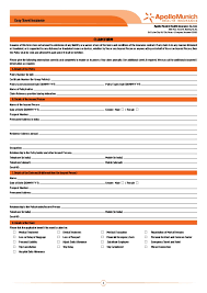 travel insured images Apollo munich easy travel insurance claim form jpg