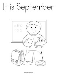 It Is September Coloring Page Twisty Noodle Coloring Pages For September